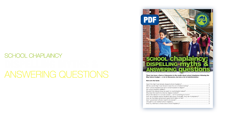 School Chaplaincy: Dispelling Myths & Answering Questions (PDF)